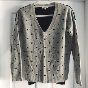 Madewell polkadot colorblock sweater